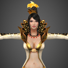 Fantasy Female Queen Sunita 3D Model