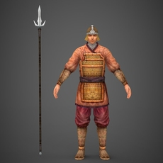 Ancient Warrior Tinta 3D Model