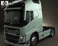 Volvo FH Tractor 2-axis Truck 2012 3D Model