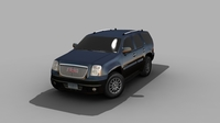 GMC CAR FOR GAMES 3D Model