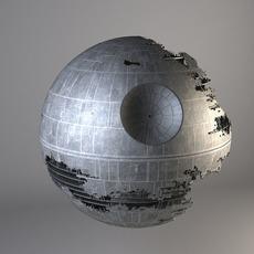 Star Wars Death Star Destroyed 3D Model