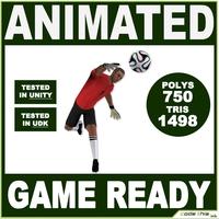 White Soccer Goalkeeper Player 1498tris 3D Model