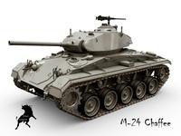 M-24 Chaffee 3D Model