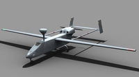 UAV IAI Searcher FOR GAMES 3D Model