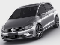 VW Golf Sportsvan 2014 3D Model