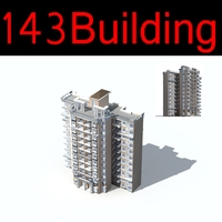 143 High-Rise Residential Building Collection 3D Model