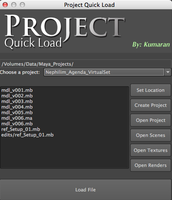 Free Project Quick Load for Maya 0.1.0 (maya script)