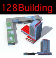 128 High-Rise_Commercial_Building Collection 3D Model