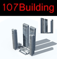 107 High-Rise Public Building Collection 3D Model