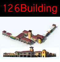 126 Multi Commercial Building Collection 3D Model