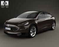 Tesla Model X 2014 3D Model