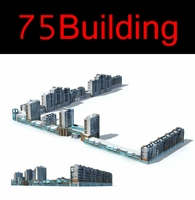 75 Multi Commercial Podium Collection 3D Model