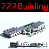 222 Multi Public Building Collection 3D Model