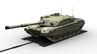 CHALLENGER 2 TANK FOR GAMES 3D Model