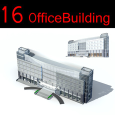 16 Office building Collection 3D Model