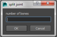 Free split Joint for Maya 1.0.0 (maya script)
