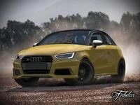 Audi S1 Sportback Vray 3D Model