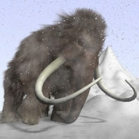 Cartoon Mammoth Rigged 3D Model