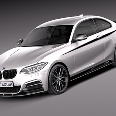 BMW 2-series M-power Coupe F22 2014 3D Model