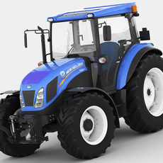 New Holland TD5 tractor 3D Model
