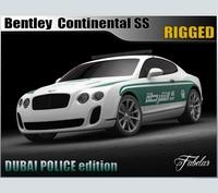Bentley Continental SS Dubai Police Vray 3D Model