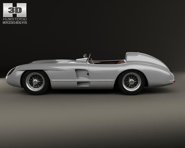 Mercedes benz 300 slr 1955 3d model for Mercedes benz 300 slr