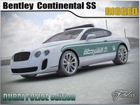 Bentley Continental SS Dubai Police std mat 3D Model