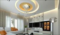 Modern Living Room with white couch and tv stand 3D Model