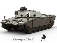 Challenger I Mk.3 3D Model