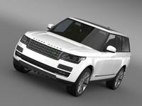 Range Rover Autobiography Black L405 2014 3D Model