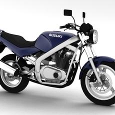 Suzuki GS500 1994 3D Model