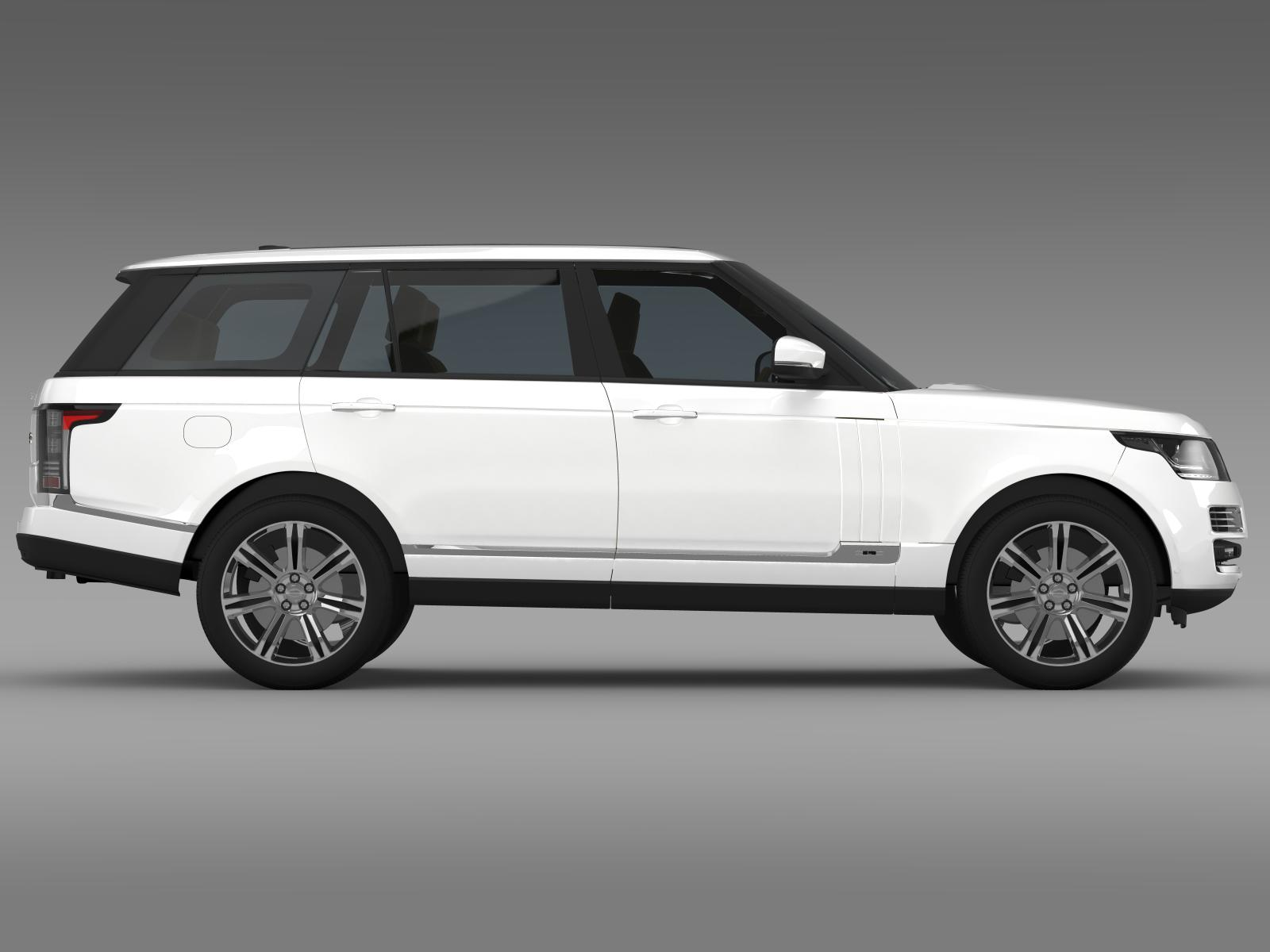 range rover autobiography black lwb l405 3d model. Black Bedroom Furniture Sets. Home Design Ideas