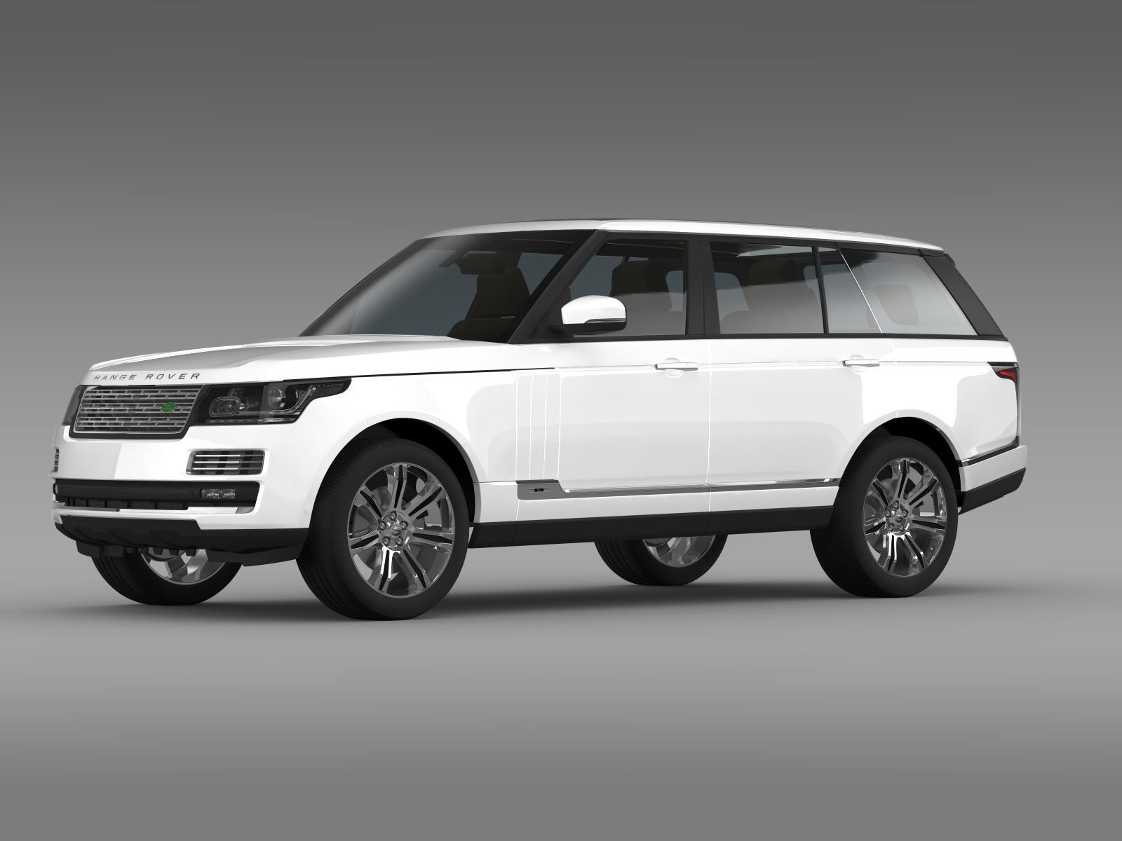 range rover autobiography black lwb l405 3d model. Black Bedroom Furniture Sets. Home Design Ideas