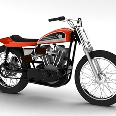 Harley-Davidson XR750 1970 3D Model