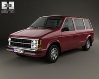 Dodge Caravan 1984 3D Model