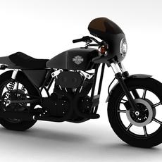 Harley-Davidson XLCR-1000 Café Racer 1977 3D Model