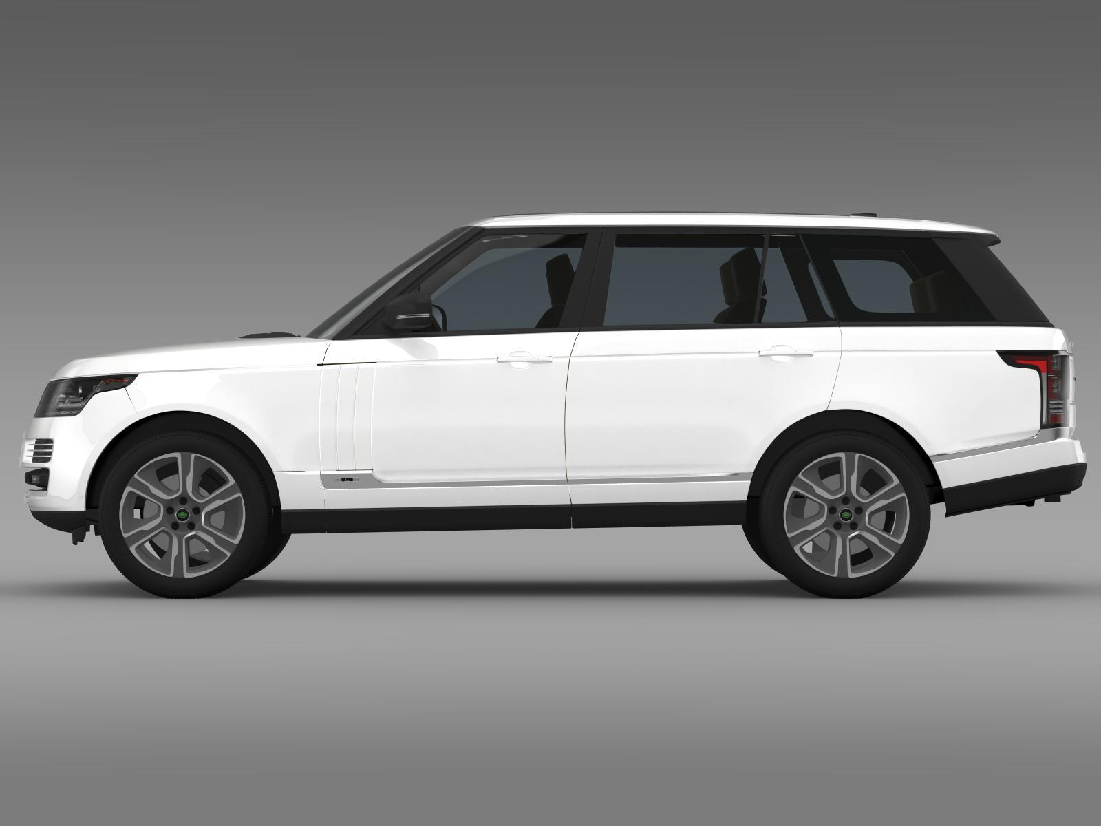 range rover hybrid lwb l405 3d model. Black Bedroom Furniture Sets. Home Design Ideas