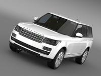 Range Rover Supercharged L405 3D Model