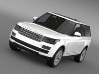 Range Rover Vogue SE TDV6 L405 3D Model