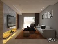 Living room 01 3D Model