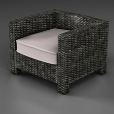 Wicker couch 3D Model
