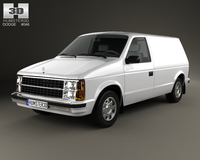 Dodge Mini Ram Van 1984 3D Model