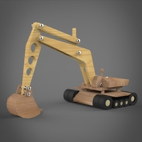 Toy JCB Machine 3D Model