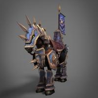 Warrior Horse 3D Model