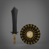 Sword & Shield 3D Model