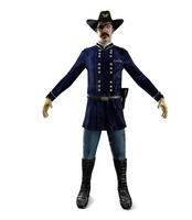 3D Soldier 1800s USA 3D Model