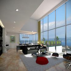 Living room 02 3D Model