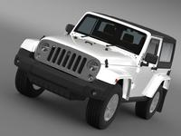 Jeep Wrangler Freedom 2014 3D Model