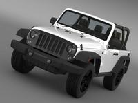 Jeep Wrangler Willys 2014 3D Model