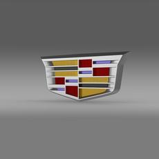 Cadillac 2014 logo 3D Model